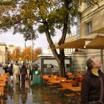 А. Деринг у кафе Шинкеля