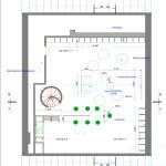 План чердака с мебелью