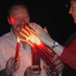 Ночные красные свечи