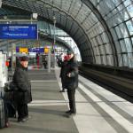 Берлин прибытие на вокзал Лертер