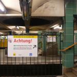 Берлин старая станция метро
