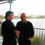 Гамбург А. и С. Гетте на террасе ресторана