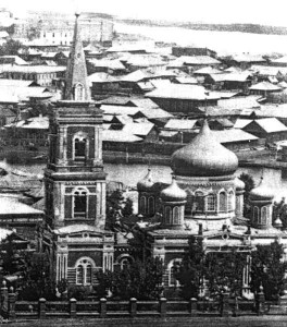 Знаменский храм, Барнаул. Фото начала 90-х годов