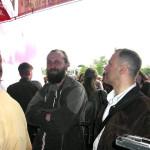 "А. Ложкин (Проект Сибирь) и А. Деринг (Классика) на церемонии открытия выставки ""АРХ МОСКВА"" 2004"