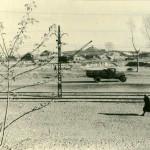 Вид на Пожрезервуары (Баки) и на площадку студгородка АСХИ 1955 г. Барнаул