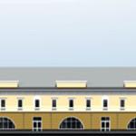 Торгово-офисное здание на Демидовской площади. Фасад по ул. Ползунова, Барнаул