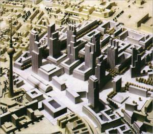 Проект новой застройки Александрплац. 1993