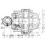 Церковь Александра Невского - план цоколя