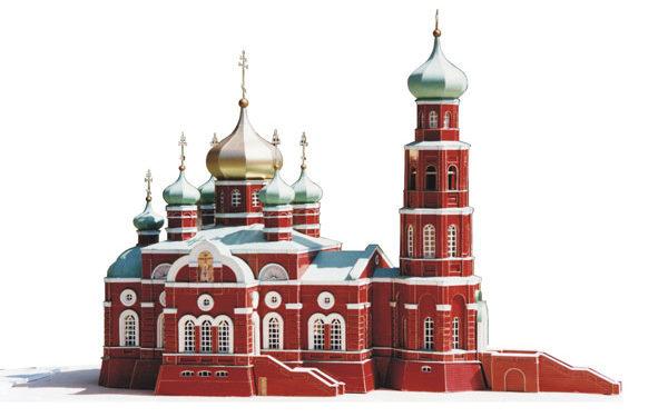 Церковь Александра Невского - Макет