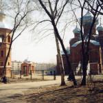 Храмовый комплекс св князя Александра Невского: вид со стороны парка