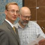С. Лащев (Квадро-интерьер) и Н. Мингалеев (Союз дизайнеров)