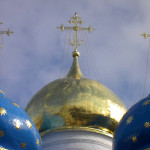 Купола Успенского собора. Сергиев Посад