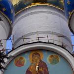 Успенский собор, купола. Сергиев Посад.