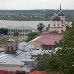 Панорама центра с Богоявленской церковью