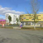 Проект торгового центра г. Заринска фотомонтаж