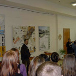 Выступление Деринга А.Ф. на открытии выставки