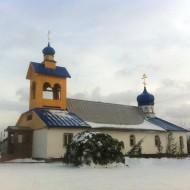 Деревянный храм с новой колокольней 2013 год