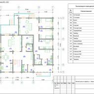 План жилого дома 1 этаж